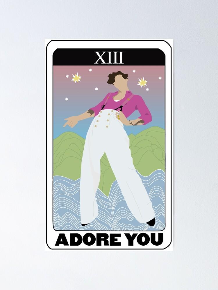 harry styles verehren sie tarot karte poster von abbykolody redbubble