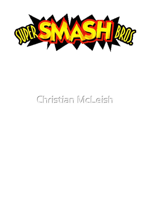 quotSuper Smash Bros 64 Logoquot Stickers by Christian McLeish