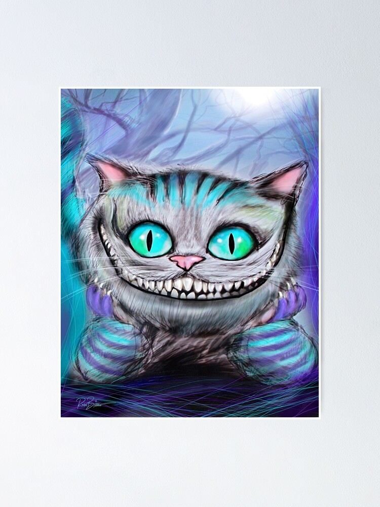 Chat Alice Au Pays Des Merveille : alice, merveille, Poster, Cheshire, Ryanbiddle, Redbubble