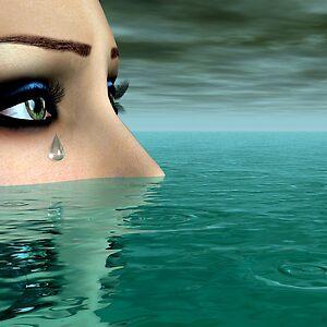 Drowning in a Sea of Tears by Sandra Bauser Digital Art