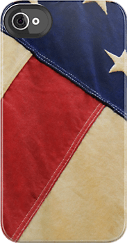 Patriotic American Flag Red White and Blue iPhone 4/4s case at redbubble