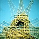multi exposure of Eiffel Tower