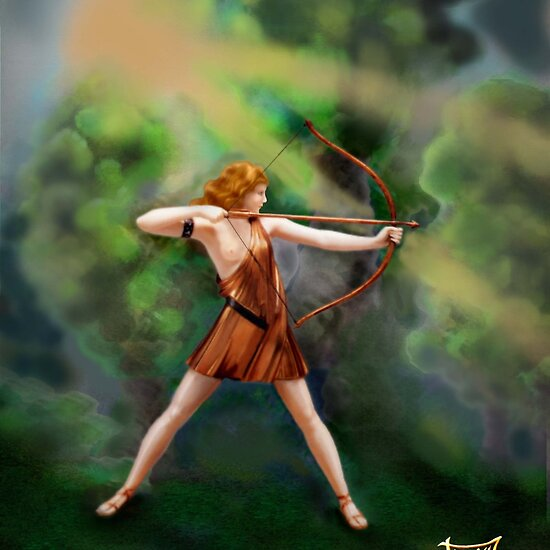 Diana,  the Goddess by Janet Boyd Art