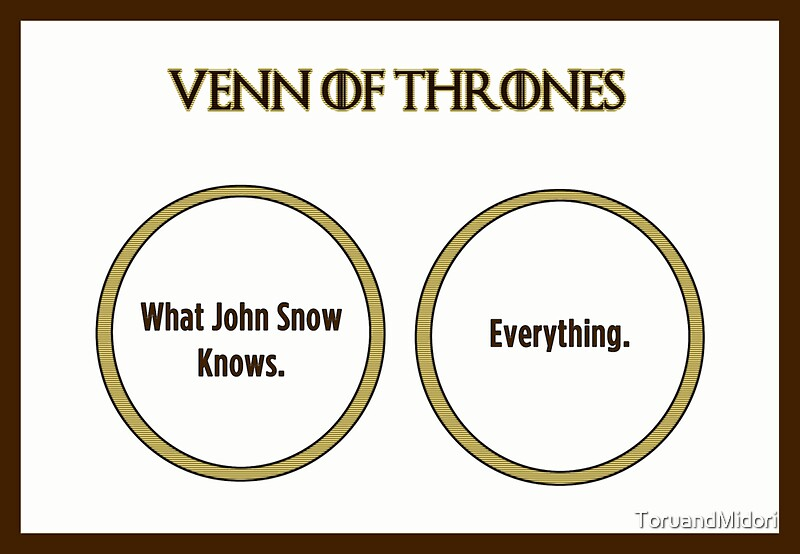 You know NOTHING, John Snow