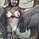 alkonost., harpy, painting, art for sale