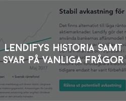 Lendifys Historia samt Svar på Vanliga Frågor