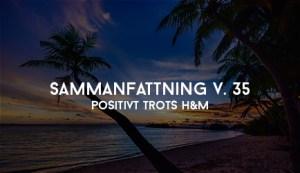 Positivt trots H&M