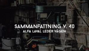 Alfa Laval Leder Vägen