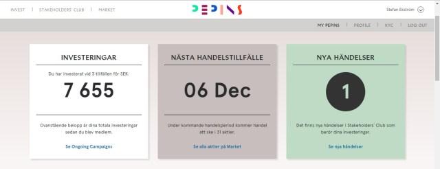 Ny design på Pepins hemsida och plattform