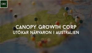 Canopy Growth Corp utökar närvaron i Australien
