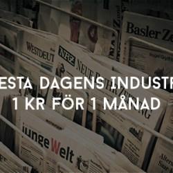 Testa Dagens Industri - 1 kr för 1 månad