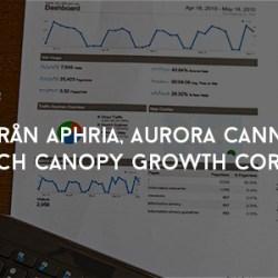 pm från Aphria, Aurora Cannabis och Canopy Growth Corp