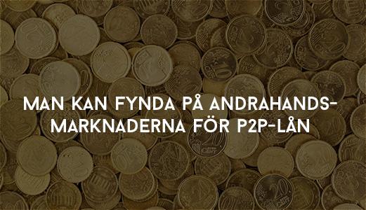 Man kan fynda på andrahandsmarknaderna för P2P-lån (Bondora)