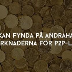 Man kan fynda på andrahandsmarknaderna för P2P-lån