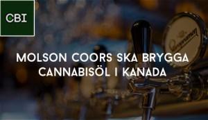 Molson Coors ska brygga cannabisöl i Kanada