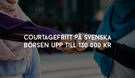 Bygg Utdelningsportföljen Courtagefritt på Svenska börsen till 130 000 kr