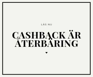 cashback är återbäring
