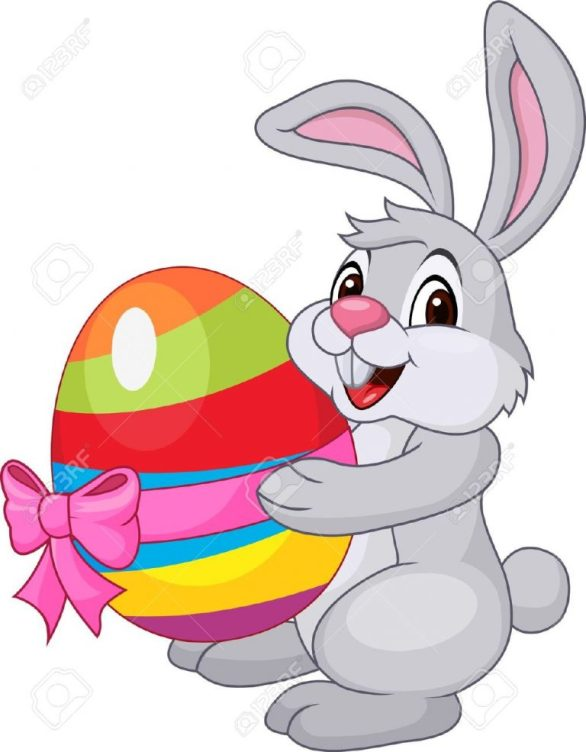Easter Bunny Eggs Clipart