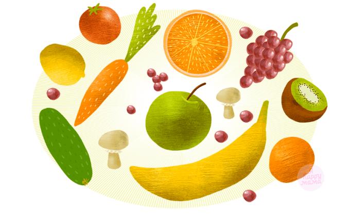овощи фрукты картинки для детей