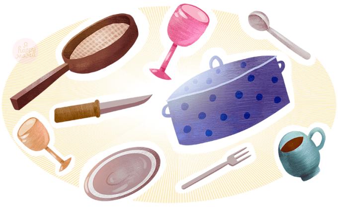 Загадки про посуду для детей