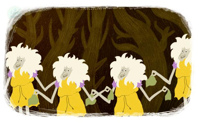 Частушки Бабок Ёжек из мультфильма «Летучий корабль»
