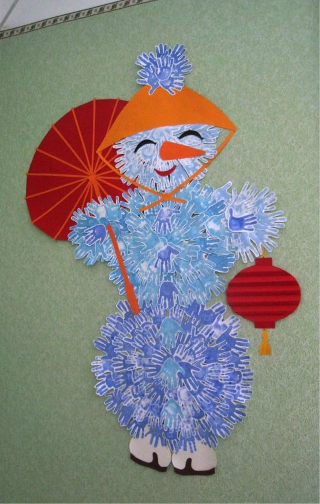 снеговик китаец сбоку