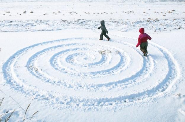 zimnie zabavy labirint