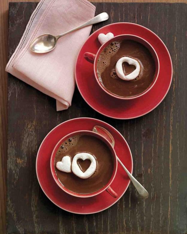 горячий шоколад ко дню валентина