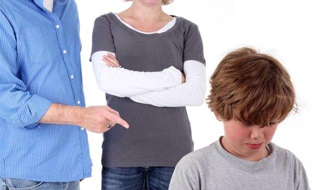наказать ребенка