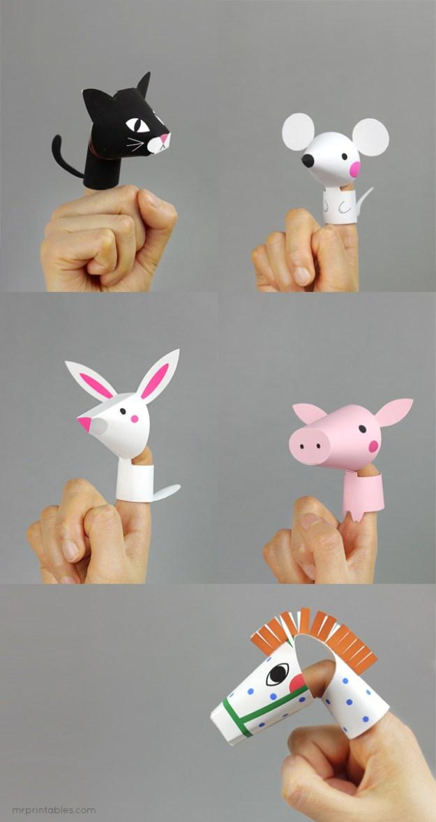 пальчиковые игрушки своими руками
