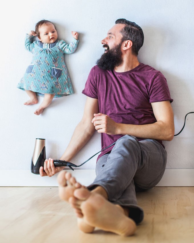идея фото с младенцем 2