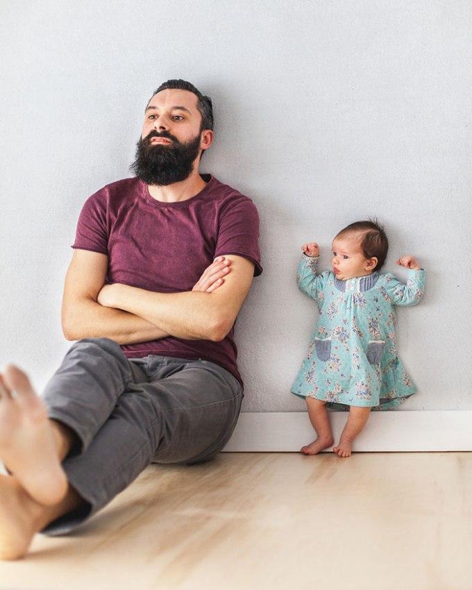 идея фото с младенцем 7