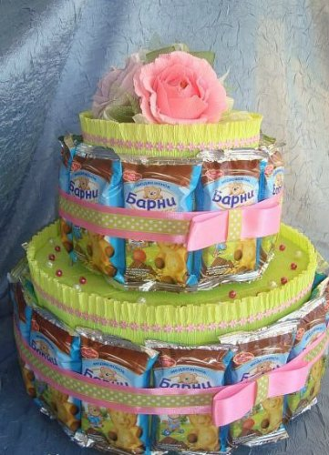 торт из соков и конфет