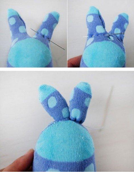 заяц из старого носка