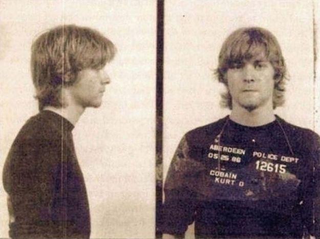 Курт Кобейн во время ареста