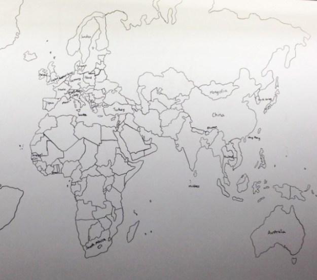 аутист нарисовал карту мира