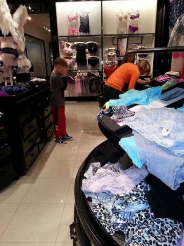 дети на шопину
