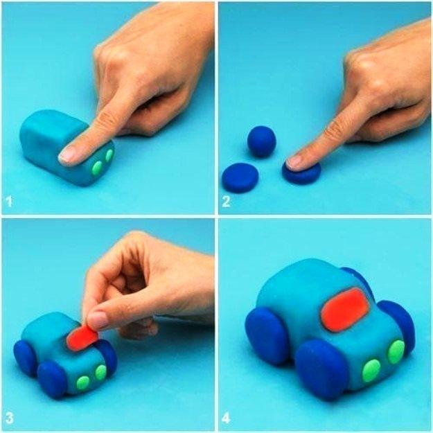 Картинки как сделать машину из пластилина, тупости картинках