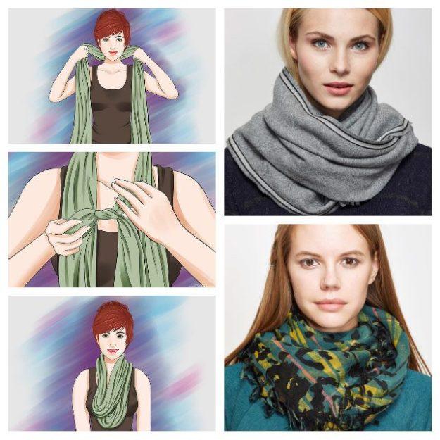 завязываем шарфы