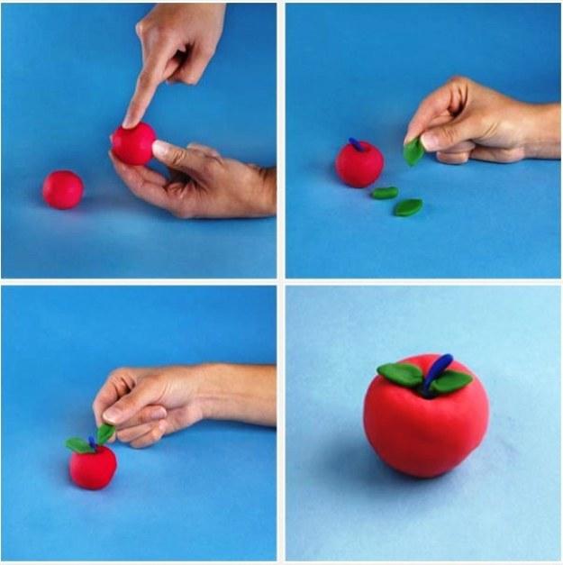 лепим яблоко