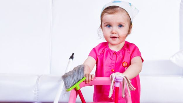 научить детей убирать