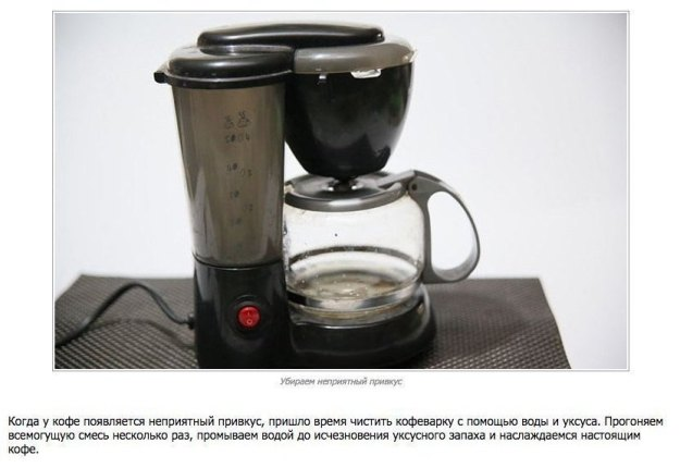 очистить кофеварку
