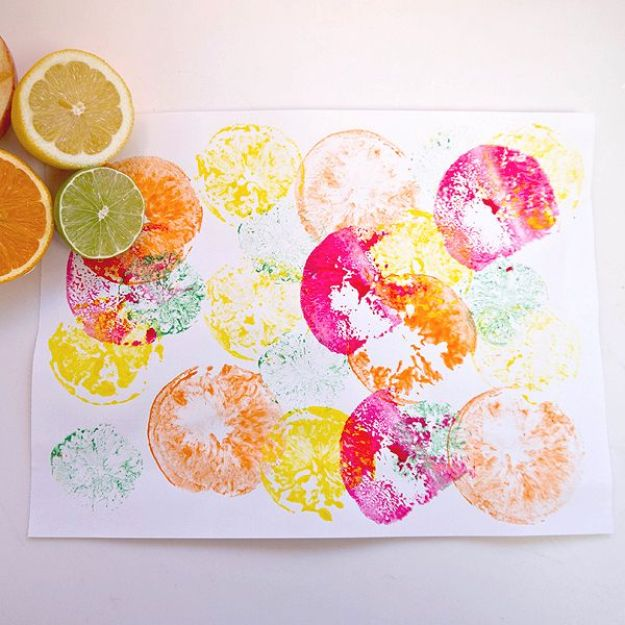 рисуем фруктами