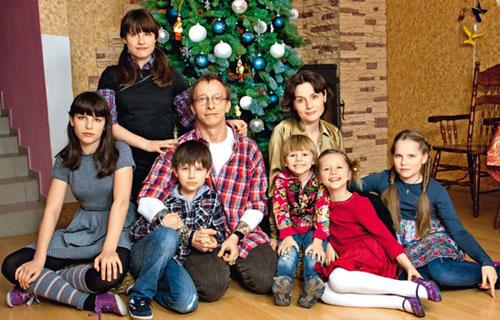 Иван Охлобыстин со своими детишками