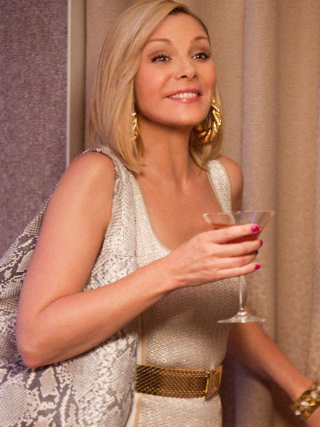 "KIM CATTRALL as Samantha Jones in New Line Cinema's comedy ""SEX AND THE CITY 2,"" a Warner Bros. Pictures release."