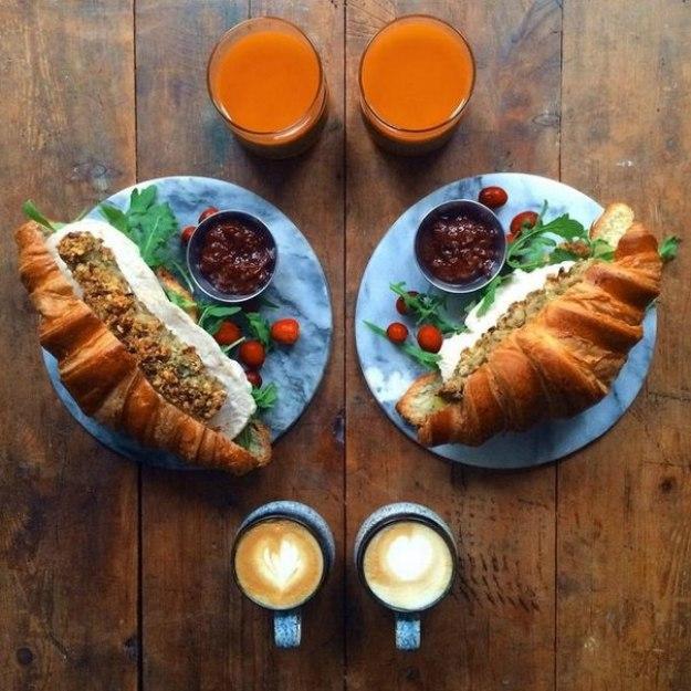 завтрак симметричный