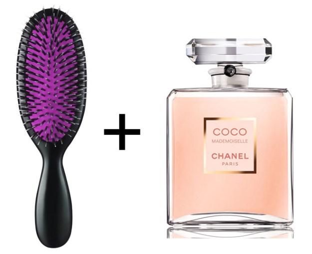 Волосы будут нежно пахнуть духами, если слегка сбрызнуть ими расческу