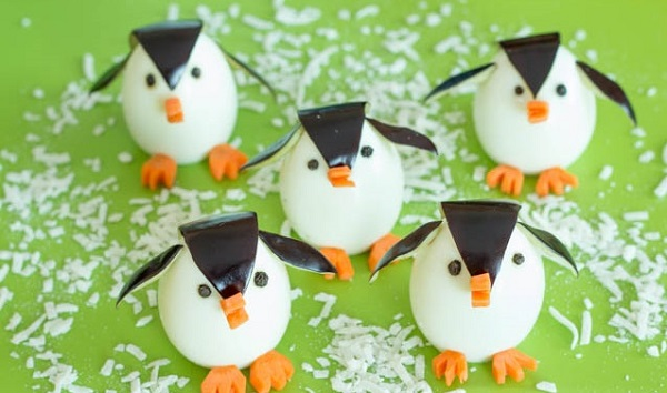 Яйца-пингвины