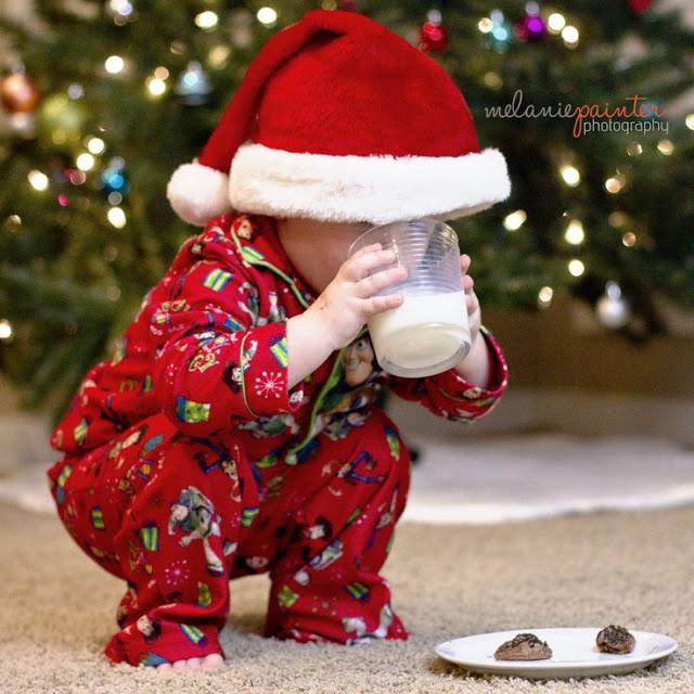 фото ребенка на Новый год