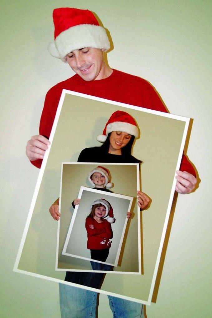 семейное новогоднее фото